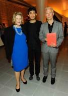 Agnes Gund, Adrian Villar Rojas and Klaus Biesenbach