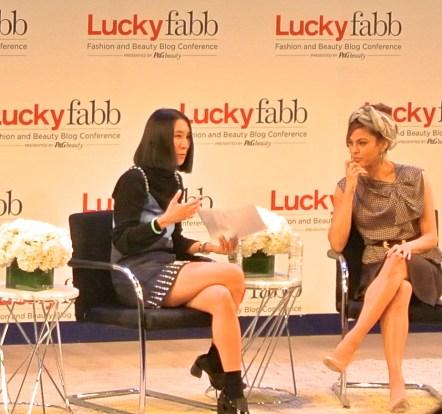 """Eva Chen and Eva Mendes at Lucky FABB 2013"""