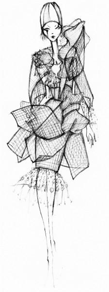 TRains Sketch for MAW Fashion Show