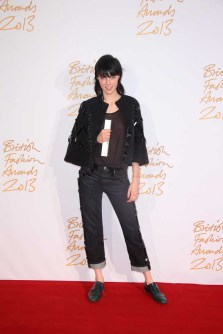 Edie Campbell (winner, Model of the Year)