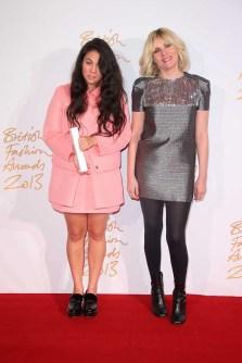 Simone Rocha (winner, Emerging Womenswear Designer) & Emmanuelle Siegner