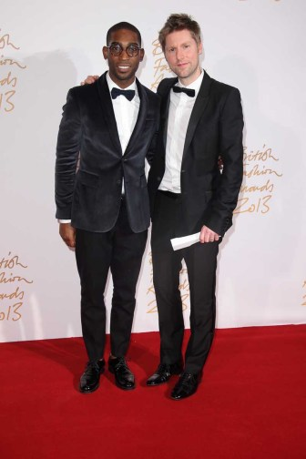 Tinie Tempah & Christopher Bailey MBE (winner, Menswear Designer of the Year)