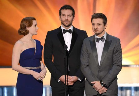 Amy Adams, Bradley Cooper and Jeremy Renner