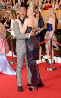 Cuba Gooding Jr and Jennifer Lawrence in Dior