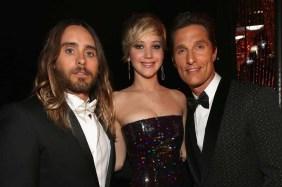 Jared Leto, Jennifer Lawrence and Matthew McConaughey