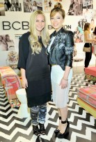 "Creative Director of BCBG Joyce Azria (L) and Jennette McCurdy (right) wears BCBGMAXAZRIA ""Luis Printed Jacket"" (CJP4H468); BCBGENERATION ""Dotted Mesh Tank Dress"" (VTH63A06); BCBGMAXAZRIA ""Arcade Shoes"""