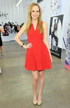 "Meaghan Martin wears: BCBGENERATION ""Flare Waist Dress"" (GEF60A23)"