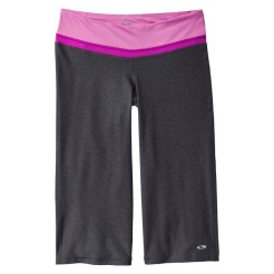 C9 by Champion Women's Advanced Performance Capri Pants, Black Heather/Violet, $24.99