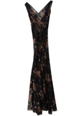 Floral Seamed Maxi Dress