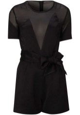 Satin Chiffon Playsuit