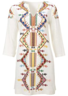Embellished Smock Dress