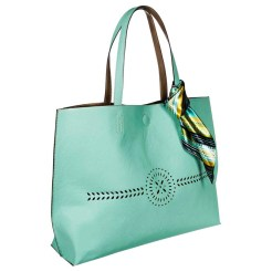 Merona Tote Handbag with Accent Scarf, Mint, $27.99