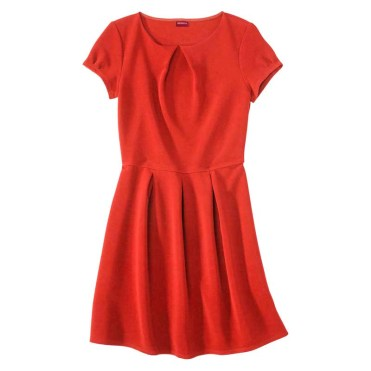 Merona Women's Textured Cap Sleeve Shift Dress, Hot Orange, $29.99