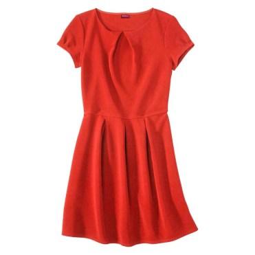 Merona Women's Textured Cap Sleeve Shift Dress, Hot Orange, $29.99