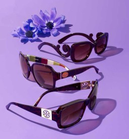 PRADA BAROQUE SUNGLASSES $290, COACH OVERSIZED SUNGLASSES $183, TORY BURCH TORTOISE SUNGLASSES $200