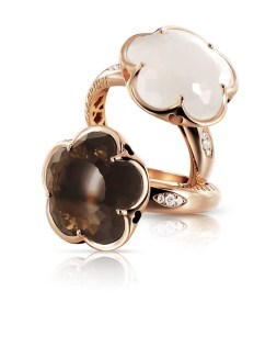 Bon Ton-rings_milky and smoky quartz