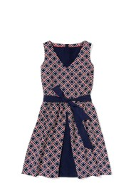 Tommy Hilfiger -- To Tommy from Zooey diamond_print_pleat_dress $149.50