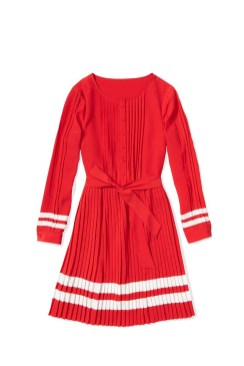 Tommy Hilfiger -- To Tommy from Zooey red_longsleeve_pleat_dress $169.50