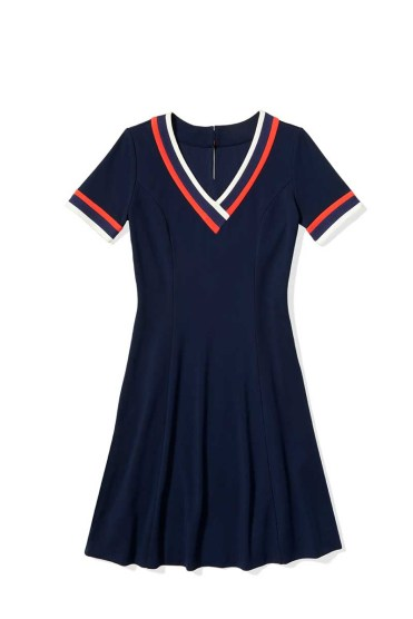 Tommy Hilfiger -- To Tommy from Zooey short_sleeve_jersey_dress_$149.50