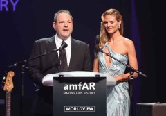 Harvey Weinstein and Heidi Klum
