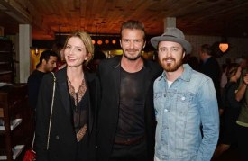 Annabelle Wallis, David Beckham, Aaron Paul