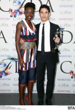 PRESENTER LUPITA NYONG'O, WOMENSWEAR WINNER JOSEPH ALTUZARRA​