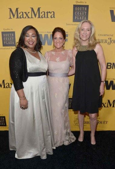 Shonda Rhime, Cathy Schulman and Betsy Beers