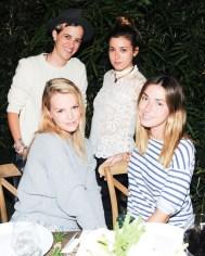 """""""Samantha Ronson, Kelly Sawyer, Jamie Schneider, Rebecca Schwartz at the BCBGeneration Summer Dinner"""""""
