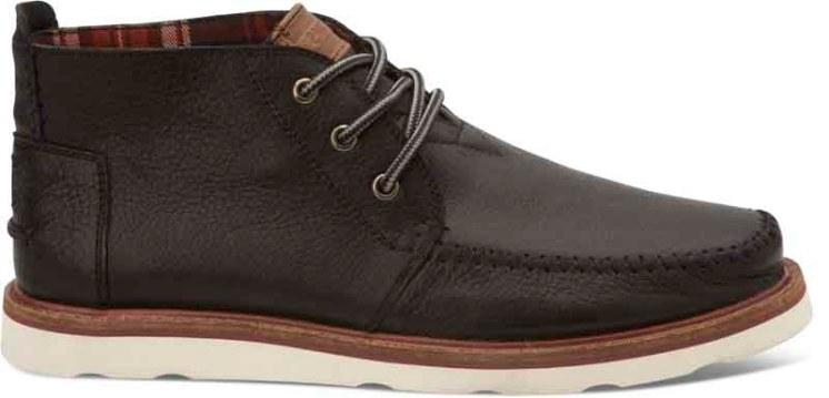 TOMS Chukka Boot- Black Leather
