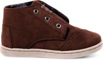 TOMS Tiny- Brown Leather Paseo Mid