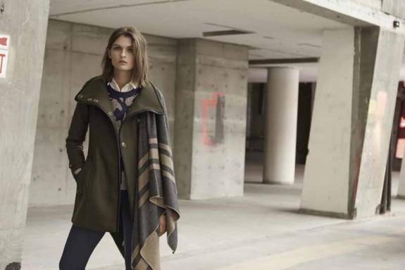 Burberry Waltford Coat, $1,295; Tarnock Pants, $350; Blanket Wrap, $995