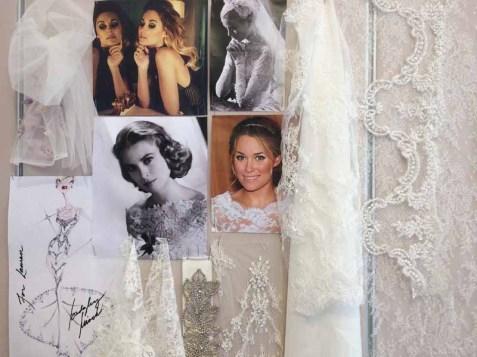 Mood Board for Lauren Conrad wedding dress