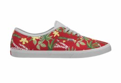 Vans Customs_AuthenticLoPro_RedAlohaWhite