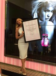 DALLAS 30 April 2015 - Victoria's Secret Angel Candice Swanepoel kicks off first ever INTERNATIONAL BOMBSHELL'S DAY at Victoria's Secret Northpark Center in Dallas, Texas on April 30, 2015. (Photo by Mari Davis)