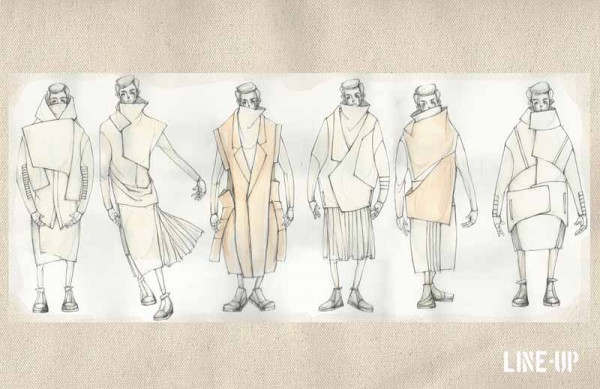 Illustrated Lineup by Ruone Yan, B.F.A. Menswear Design
