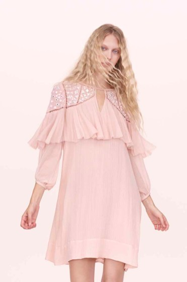 Rebecca Taylor Mirrored Eyelet Ruffle Dress Spring 2016