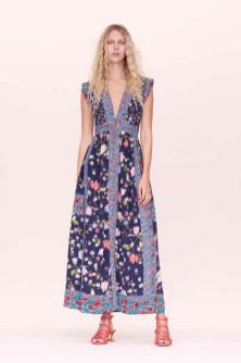 Rebecca Taylor Patched and Quilted Floral Maxi Dress