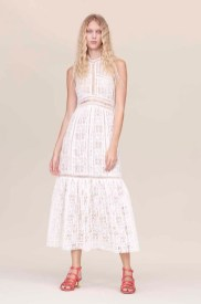 Rebcca Taylor Off-White Crochet Lace Dress