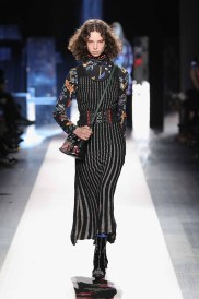 DESIGUAL_NYFW_AW17_ATWALK_LOOK 48 NEW YORK, NY - FEBRUARY 09:A model walks the runway at the Desigual show New York Fashion Week The Shows at Gallery 1, Skylight Clarkson Sq on February 9, 2017 in New York City
