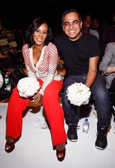 NEW YORK, NY - SEPTEMBER 07: Celebrity stylist June Ambrose and designer Bibhu Mohapatra attend Supima Design Competition SS18 runway show during New York Fashion Week at Pier 59 on September 7, 2017 in New York City. (Photo by Brian Ach/Getty Images for Supima Design Competition)