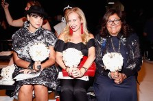 NEW YORK, NY - SEPTEMBER 07: (L-R) Katharine Zarrella, Alexandra Wilkis Wilson and Fern Mallis attend Supima Design Competition SS18 runway show during New York Fashion Week at Pier 59 on September 7, 2017 in New York City. (Photo by Brian Ach/Getty Images for Supima Design Competition)