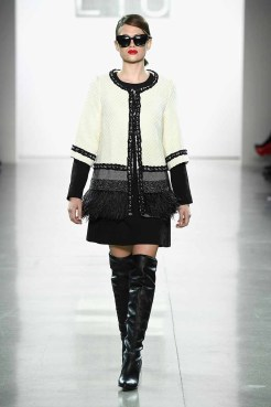 NEW YORK, NY - FEBRUARY 10: A model walks the runway for Dan Liu during New York Fashion Week: The Shows at Gallery II at Spring Studios on February 10, 2018 in New York City. (Photo by Frazer Harrison/Getty Images for Dan Liu)