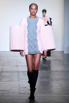 NEW YORK, NY - FEBRUARY 08: A model walks the runway at Global Fashion Collective Presents Kim Tiziana Rottmuller At New York Fashion Week Fall 2018 at Industria Studios on February 8, 2018 in New York City. (Photo by Arun Nevader/Getty Images for Global Fashion Collective)