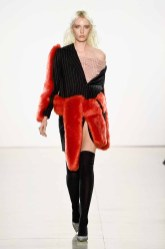 NEW YORK, NY - FEBRUARY 13: A model walks the runway for Vivienne Hu during New York Fashion Week: The Shows at Gallery II at Spring Studios on February 13, 2018 in New York City. (Photo by Frazer Harrison/Getty Images for Vivienne Hu)