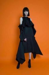 Aphid F18 LINSALINE DRESS BLACK