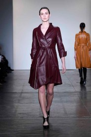 NEW YORK, NY - FEBRUARY 08: A model walks the runway at Global Fashion Collective Presents Melissa Yin At New York Fashion Week Fall 2018 at Industria Studios on February 8, 2018 in New York City. (Photo by Arun Nevader/Getty Images for Global Fashion Collective)