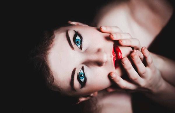 woman in makeup