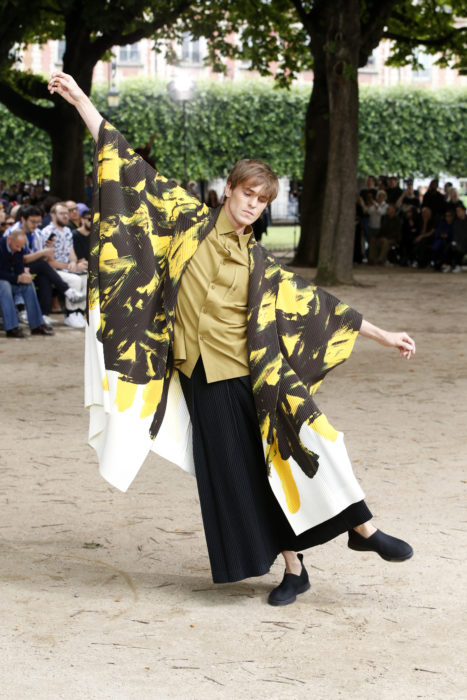 Issey Miyake's SS20 menswear collection.
