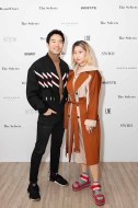 Chung Chung Lee and Candice Wu wearing LIE Coat