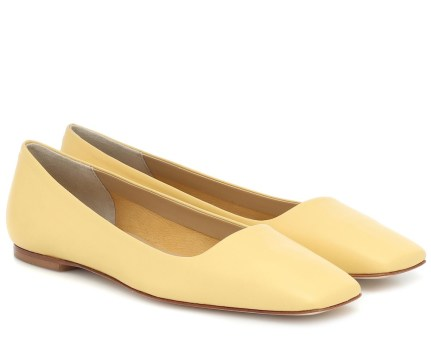 Aeydē Gina Leather Ballet Flats, $230 at mytheresa.com